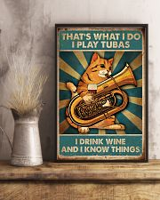 Tubist I play tubas and I drink wine 11x17 Poster lifestyle-poster-3