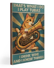 Tubist I play tubas and I drink wine 20x30 Gallery Wrapped Canvas Prints thumbnail