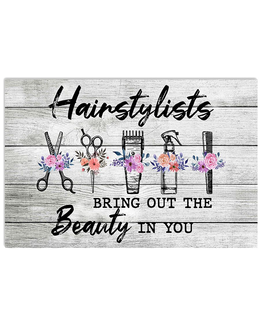 Hairdresser Bring The Beauty In You 17x11 Poster