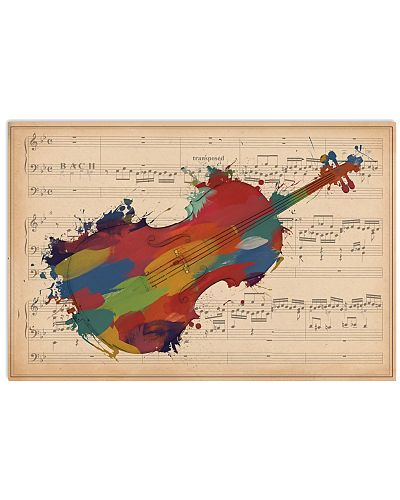 Violinist Colorful Violin Music Sheet