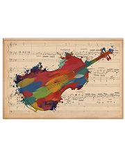 Violinist Colorful Violin Music Sheet 17x11 Poster front
