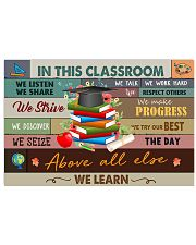 Teacher In This Classroom We Learn 17x11 Poster front