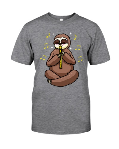 Cute Sloth With Flute