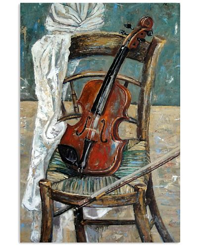 Violin On The Chair Violinist Art Gift
