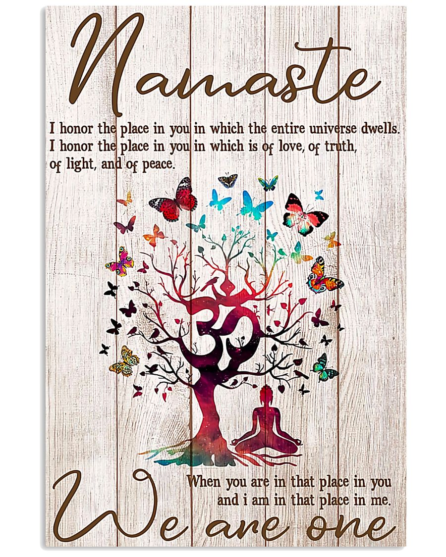 Yoga We are one 11x17 Poster