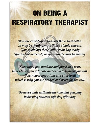 On Being A  Respiratory Therapist