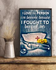 Nurse I Love The Person I've Become 11x17 Poster lifestyle-poster-3
