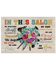 Hairdresser In This Salon We Welcome Guests 17x11 Poster front