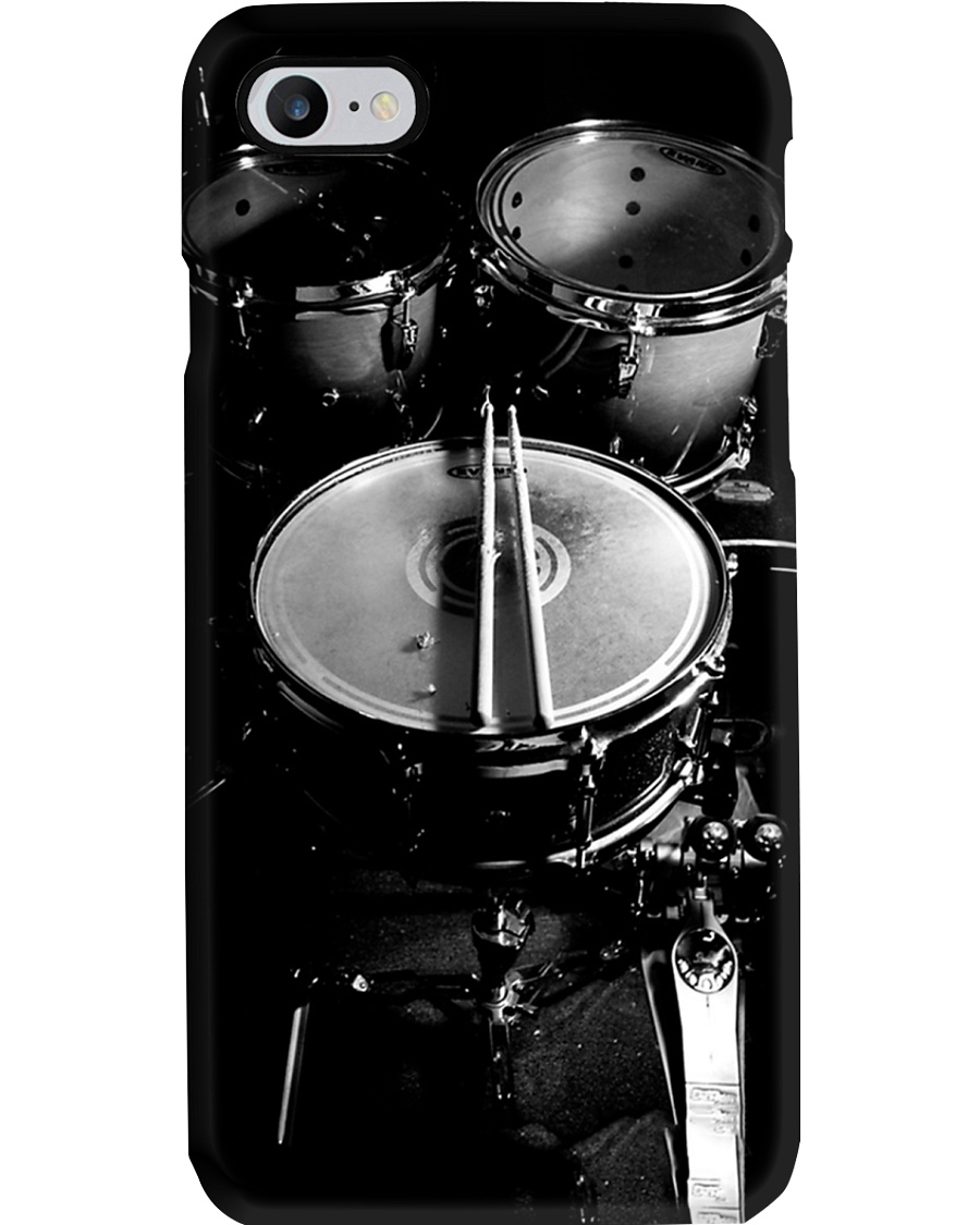Drummer Gift Black And White Drums Phone Case
