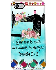 Sewing She Works With Her Hands In Delight Phone Case i-phone-7-case