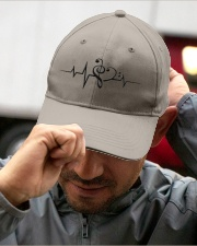 Clef Heartbeat Bass Guitar Embroidered Hat garment-embroidery-hat-lifestyle-01