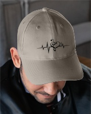 Clef Heartbeat Bass Guitar Embroidered Hat garment-embroidery-hat-lifestyle-02