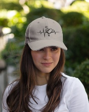 Clef Heartbeat Bass Guitar Embroidered Hat garment-embroidery-hat-lifestyle-07