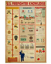 US Firefighter Knowledge 11x17 Poster front