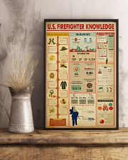 US Firefighter Knowledge 11x17 Poster lifestyle-poster-3
