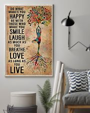Yoga Do What Makes You Happy 11x17 Poster lifestyle-poster-1
