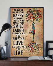 Yoga Do What Makes You Happy 11x17 Poster lifestyle-poster-2