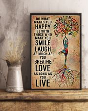Yoga Do What Makes You Happy 11x17 Poster lifestyle-poster-3