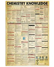 Chemistry Knowledge Chemist 11x17 Poster front