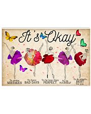 Ballet It's Okay To Make Mistakes 17x11 Poster front