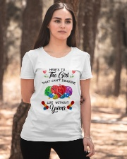 Crochet and Knitting - Here's to the girl Ladies T-Shirt apparel-ladies-t-shirt-lifestyle-05