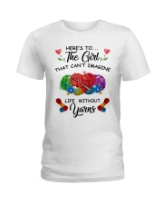 Crochet and Knitting - Here's to the girl Ladies T-Shirt front