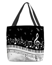 Black keys piano All-over Tote thumbnail
