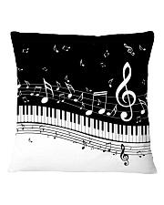 Black keys piano Square Pillowcase thumbnail