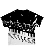 Black keys piano All-over T-Shirt back