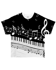Black keys piano All-over T-Shirt front