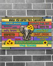Teacher When You Enter This Classroom 17x11 Poster poster-landscape-17x11-lifestyle-18