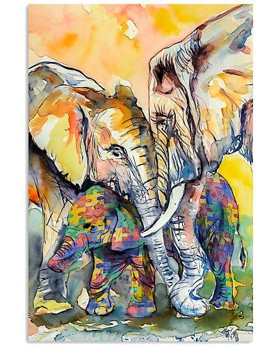 Autism Awareness Elephant Poster