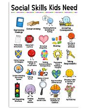 Social Worker Social Skills Kids Need 11x17 Poster front