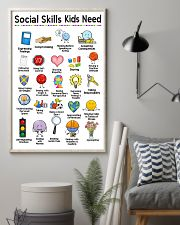 Social Worker Social Skills Kids Need 11x17 Poster lifestyle-poster-1