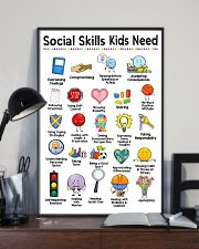 Social Worker Social Skills Kids Need 11x17 Poster lifestyle-poster-2