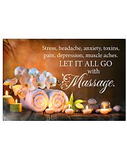 Massage therapist Let it all go with massage 17x11 Poster front