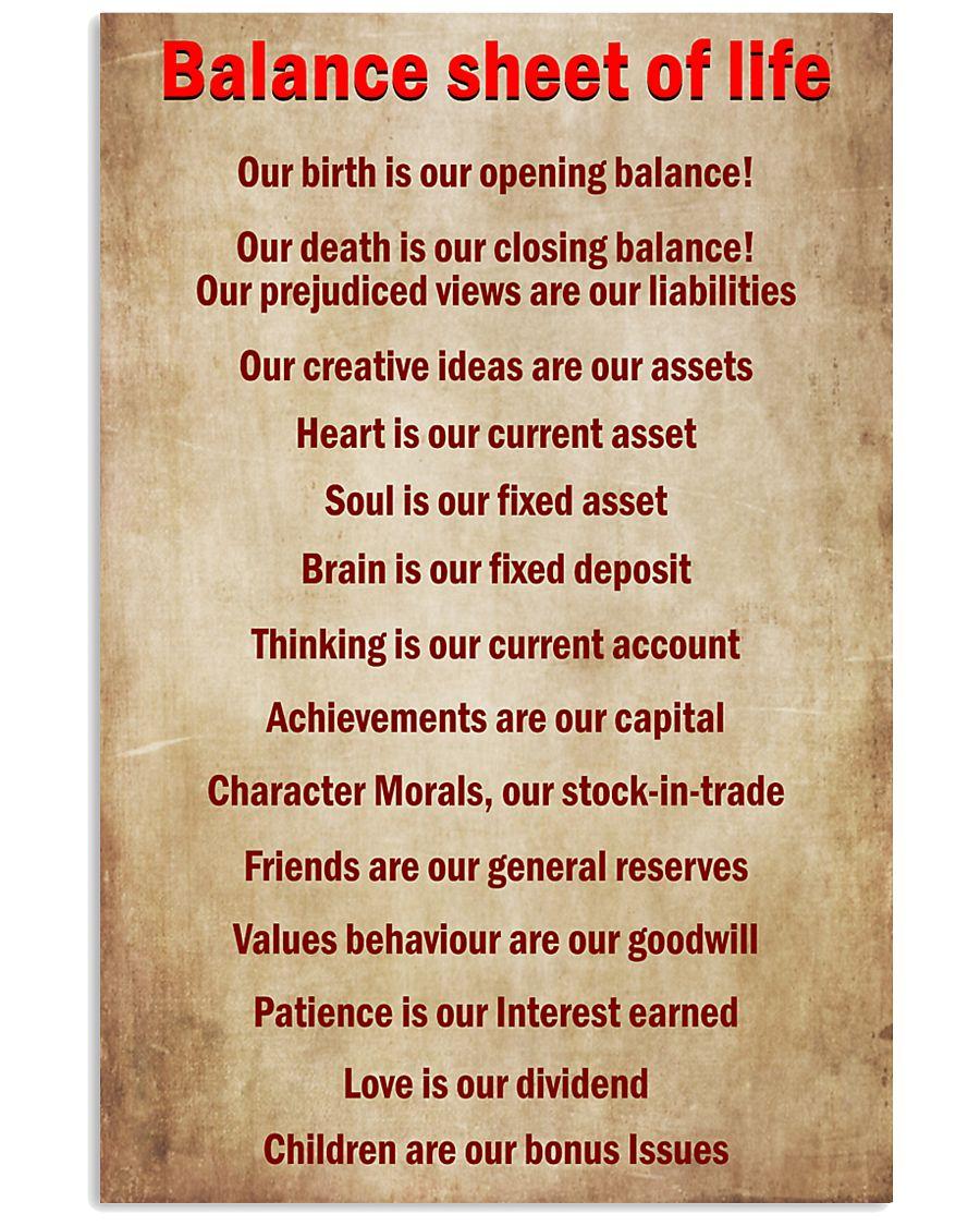 Accountant Balance sheet of life 11x17 Poster