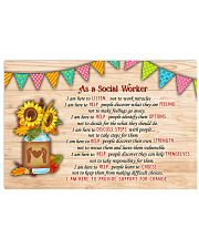 Social Worker I am here Poster 17x11 Poster front