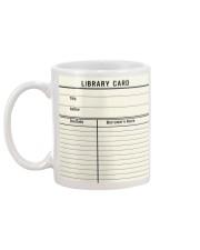 Librarian Library Card Mug back