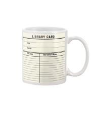 Librarian Library Card Mug front