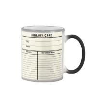 Librarian Library Card Color Changing Mug thumbnail