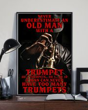 Trumpet Old Man 11x17 Poster lifestyle-poster-2