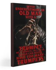 Trumpet Old Man 20x30 Gallery Wrapped Canvas Prints thumbnail