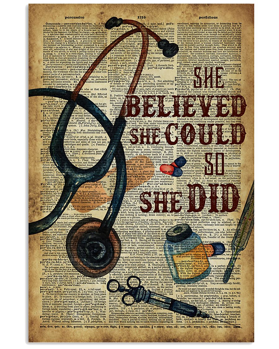 Medical Assistant - She believed she could  11x17 Poster
