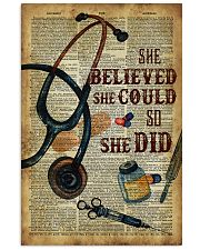 Medical Assistant - She believed she could  11x17 Poster front