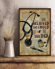 Medical Assistant - She believed she could  11x17 Poster lifestyle-poster-3