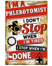 Phlebotomist I stop when I'm done 11x17 Poster front