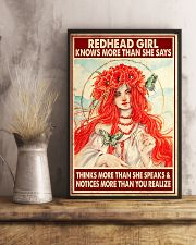 Redhead Girl Knows More Than She Says 11x17 Poster lifestyle-poster-3