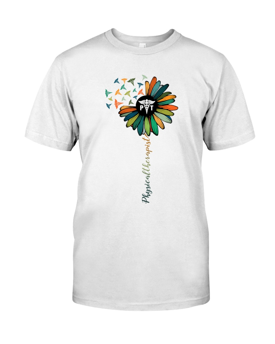 Physical Therapist Colorful Caduceus Classic T-Shirt