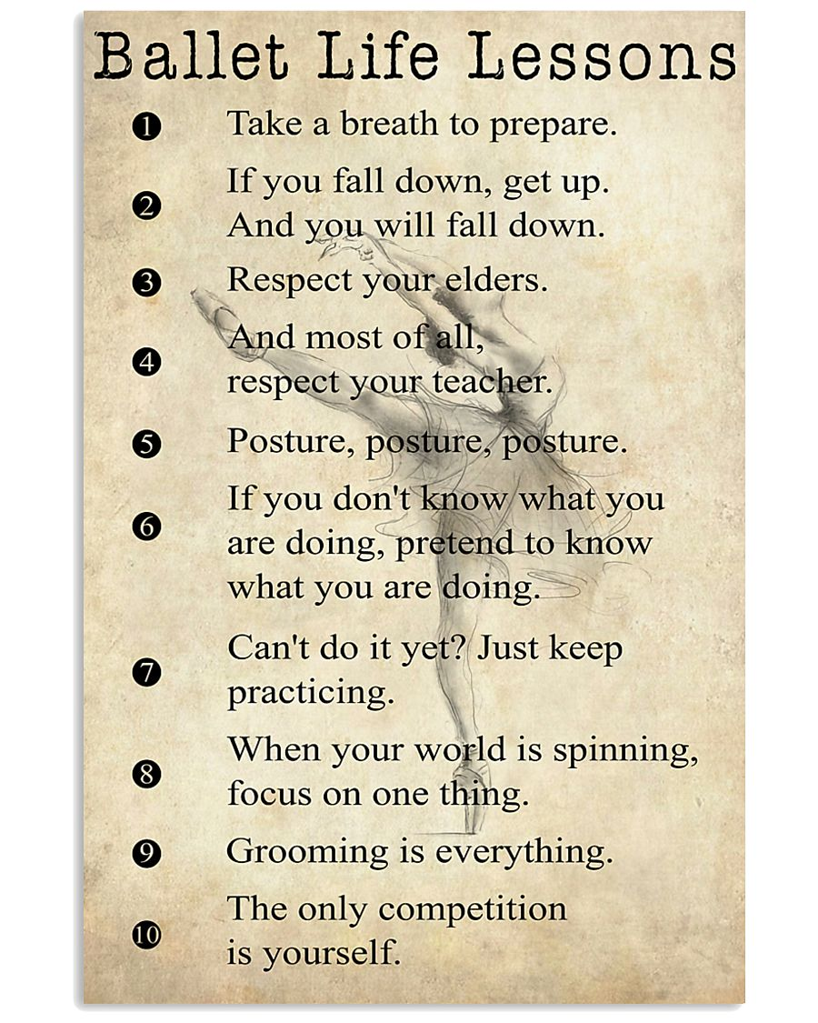 Ballet Life Lessons 11x17 Poster